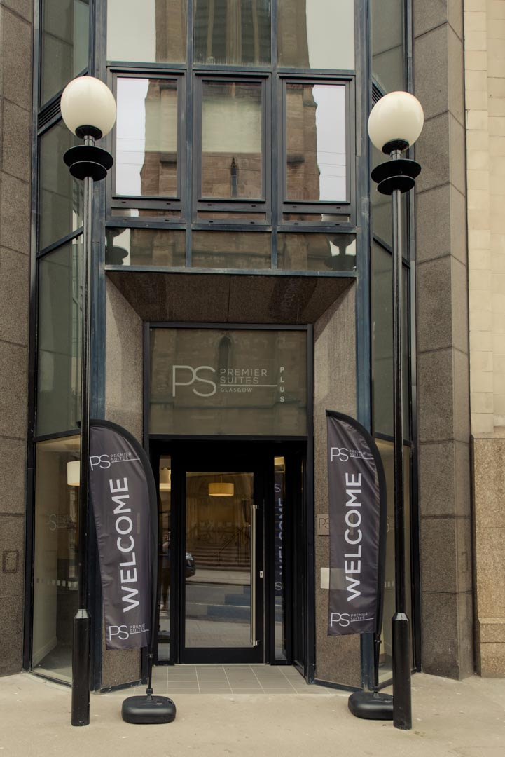 Front entrance to PREMIER SUITES PLUS Glasgow Bath Street