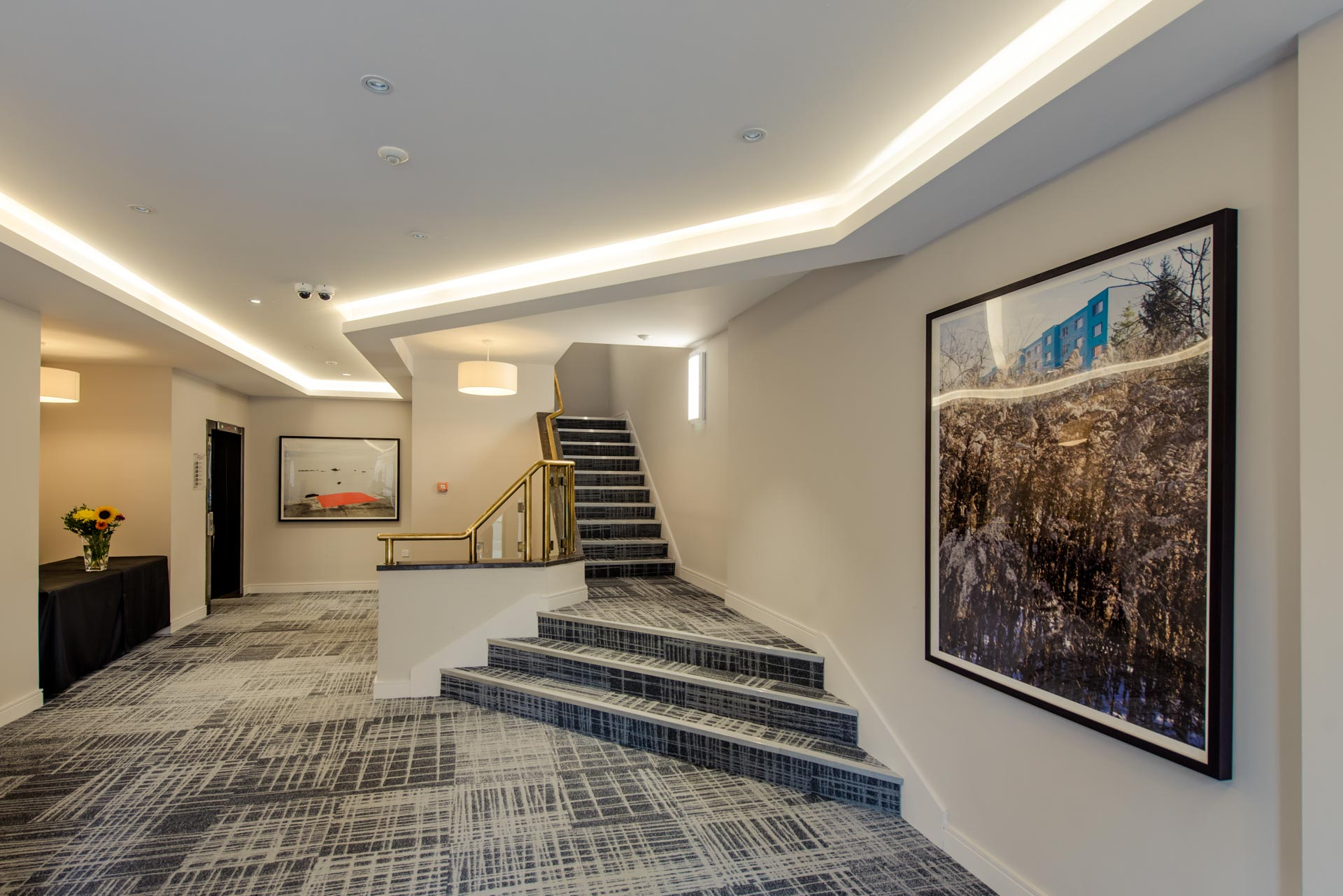 Reception area of PREMIER SUITES PLUS Glasgow Bath Street