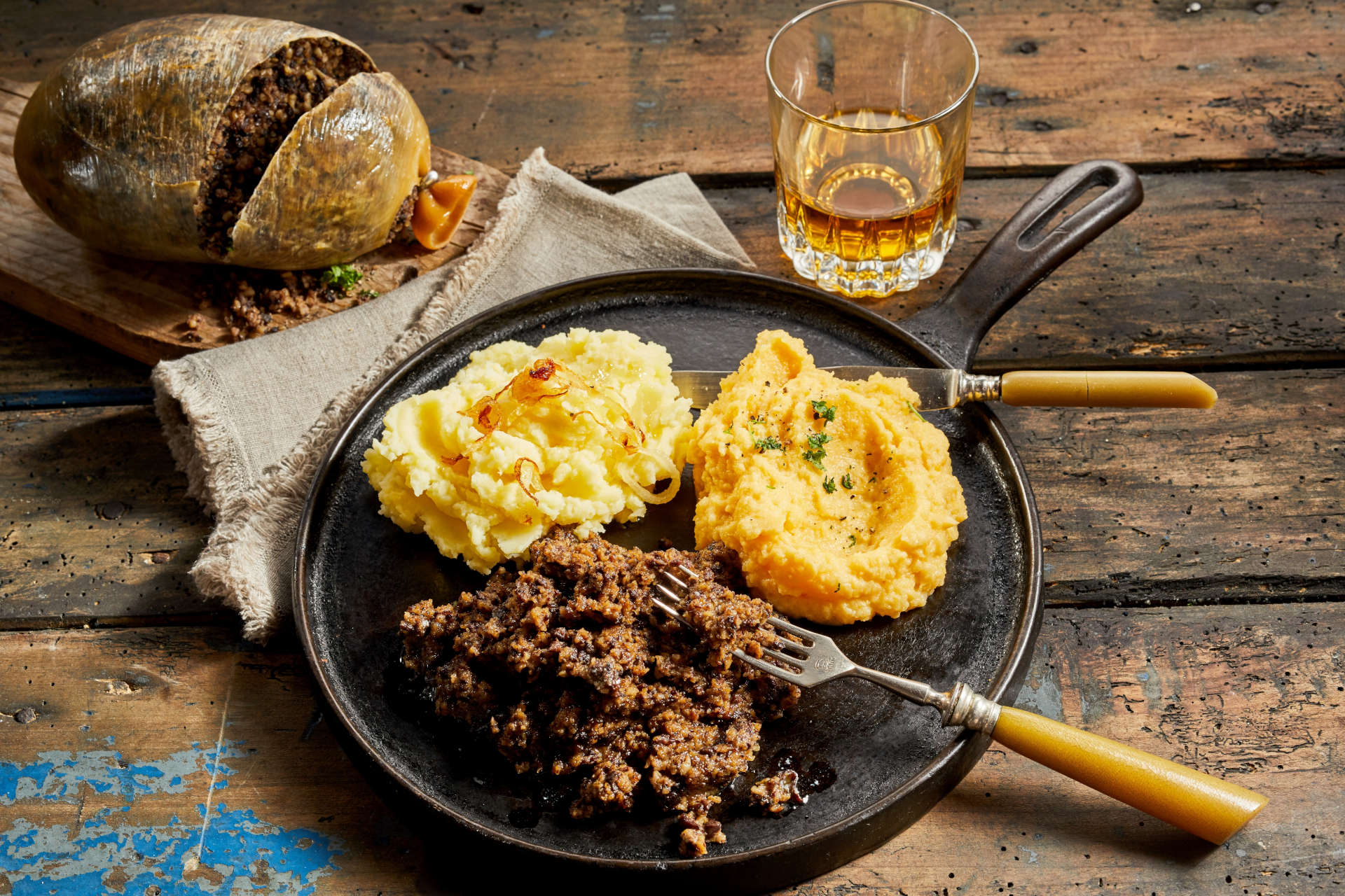 Traditional Meal of Haggis, Neeps and Tatties